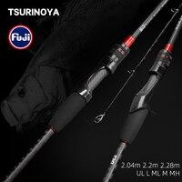 TSURINOYA  Carbon Fishing Rod  HACKER UL L ML M MH Power FUJI Guide Rings Accessories Ultra Light universal Fishing Lure Rods
