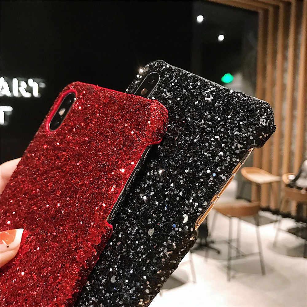 Mewah Glitter Payet untuk Xiaomi Redmi Note 7 5 6 Mi8 6x 5x Mi9 Se CC9 9 T K20 4A 5A 6A Penutup Pelindung Fundas