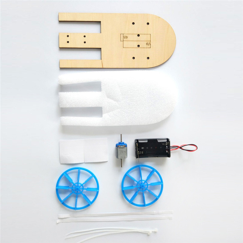 Electric boat science education toy DIY Electronic Assembly Boat Model Toy Scientific Experiment Toy For Kids Gifts #4J09 (1)