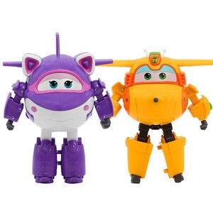 Image 2 - 25 stil Großen Super Flügel Verformung Flugzeug Robot Action figuren Super Flügel Transformation Spielzeug für Kinder Geschenk Brinquedos