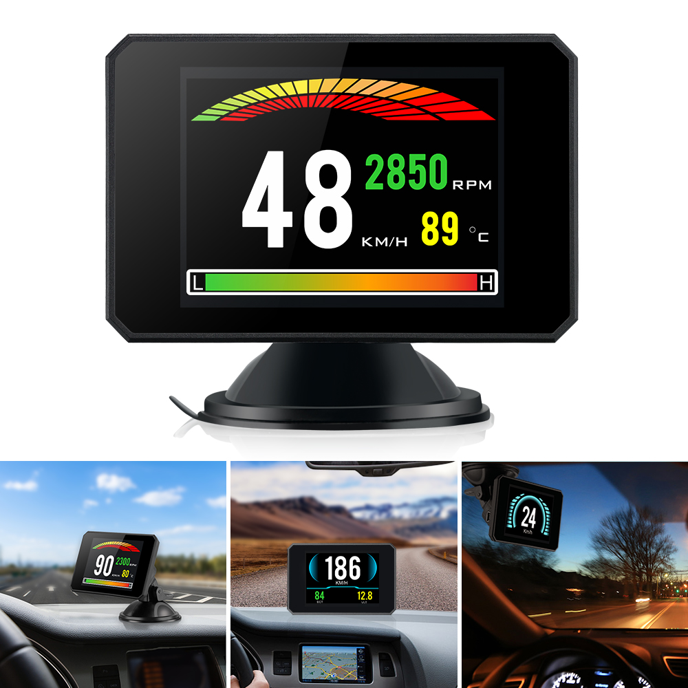 P16 5.8 TFT OBD Hud Head Up Display Digital Car Speed Projector On-Board Computer OBD2 Speedometer Windshield Projector 5 dfdf