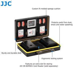 Image 4 - JJC المياه مقاومة المضادة للصدمة كاميرا بطارية حالة مربع ل فوجي فيلم NP W126 NP W126S NP 95 مع فتحات ل SD MSD XQD بطاقة الذاكرة