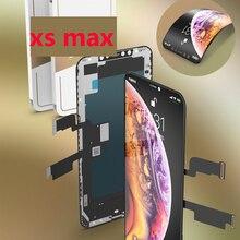 Gx display lcd para apple iphone 11 pro max x xs max xs xr super amoled 3d tela de toque com digitador assembléia peças preto