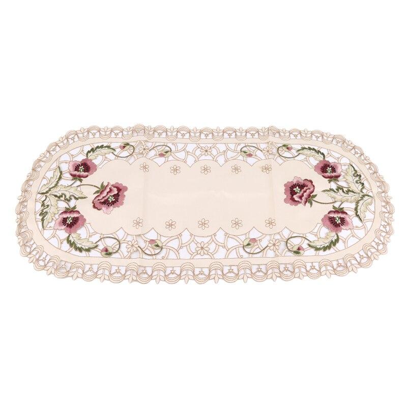 Домашняя скатерть с овальной вышивкой для свадебного торжества, скатерть, скандинавские чайные скатерти для кофейных столиков, домашний