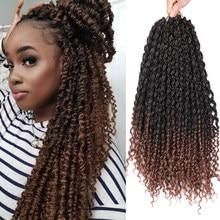 14 ''wiosna Twist włosy kręcone końce Ombre Twist szydełkowe włosy plecione naturalne syntetyczne włosy plecione przedłużanie włosów afrykański Dreadlock