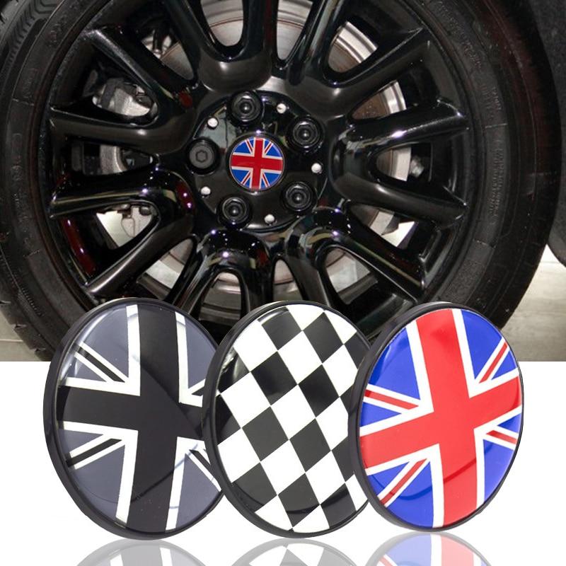 4pcs 54mm Black Plastic Car Emblem Badge Wheel Center Hub Caps for Mini Cooper Other Tools for Wheel Center Caps 68mm 60mm Wheels Black Prime