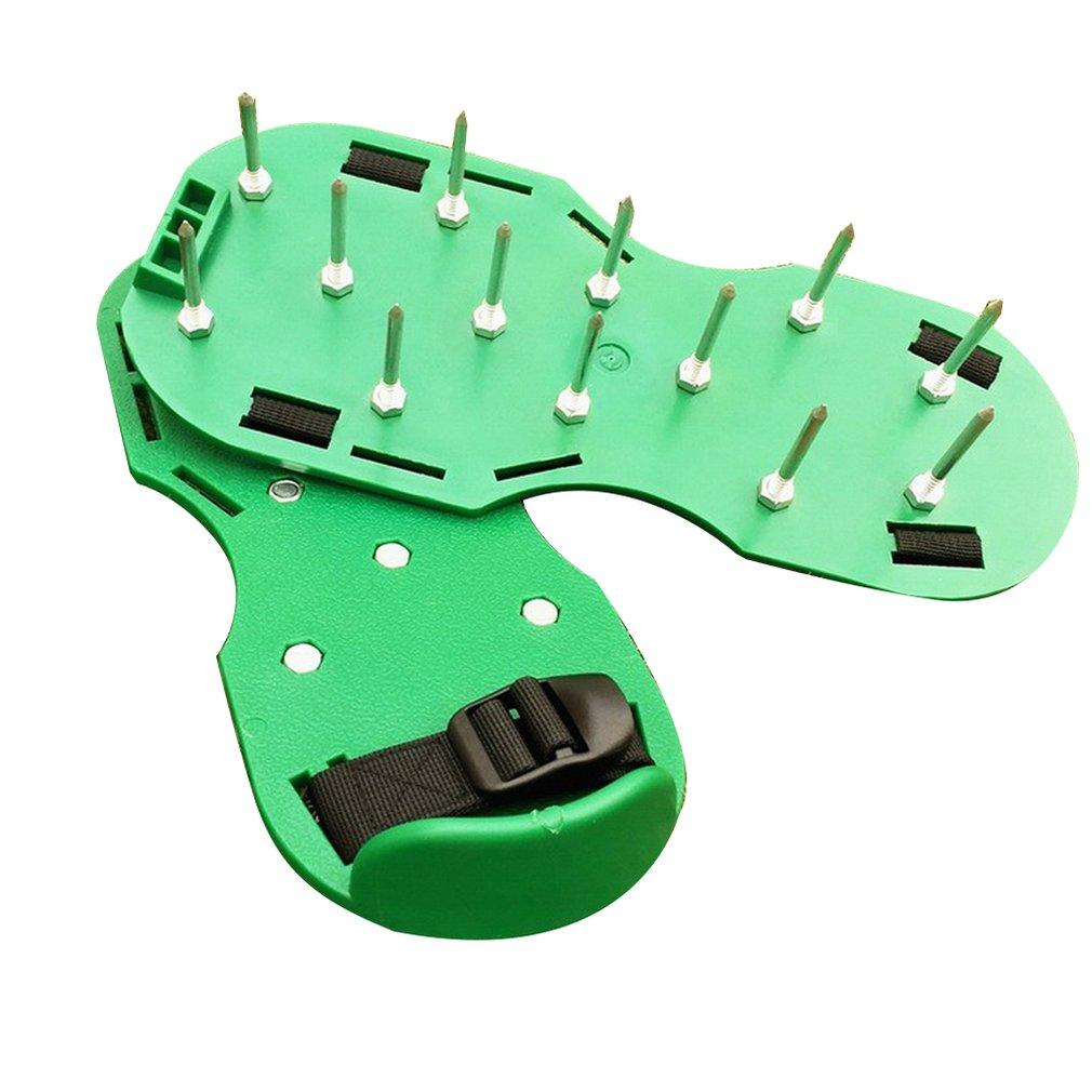 Газон шипы Газон Аэратор обувь садовые гвозди садовые инструменты сыпучий грунт обувь рыхлитель Портативный прочный удобный
