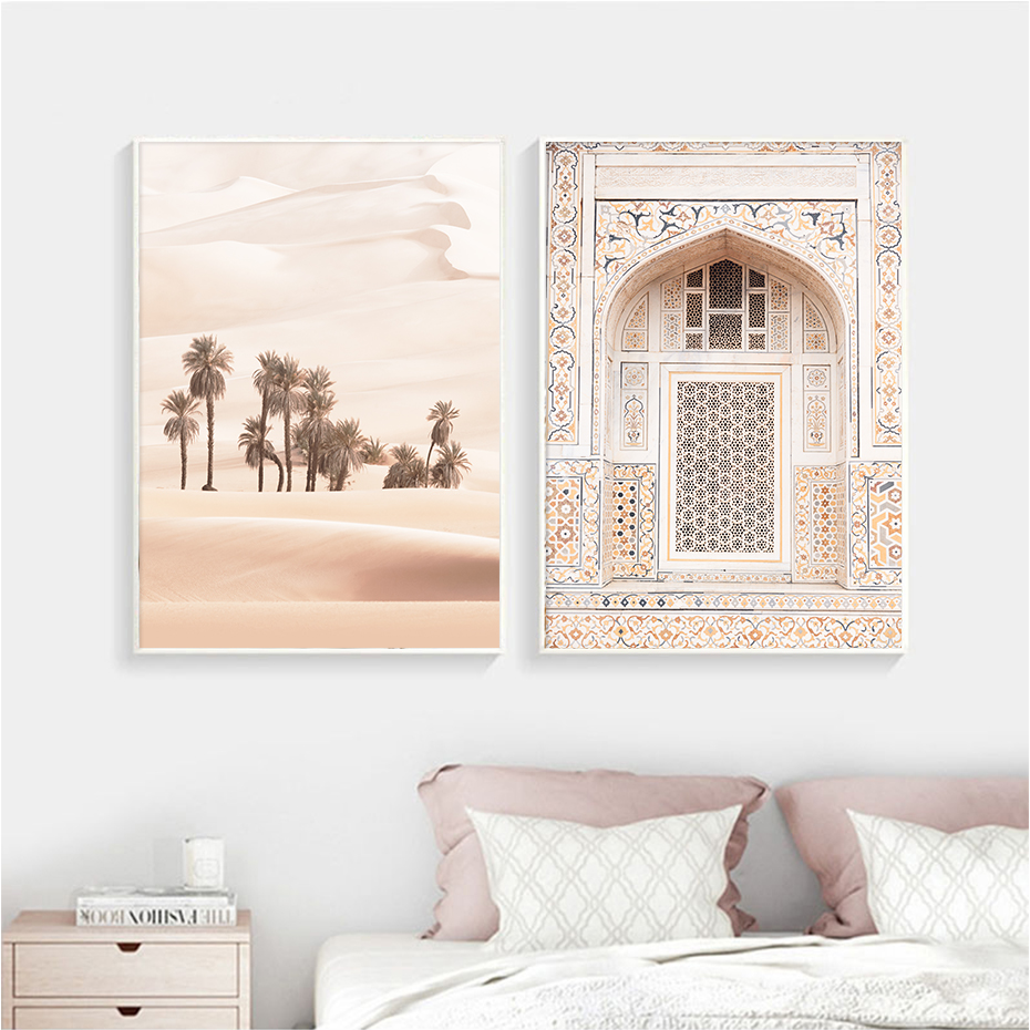 Desert Vintage Window Landscape Wall Art Pictures Canvas Painting Gallery Posters And Prints Interior For Living Room Home Decor