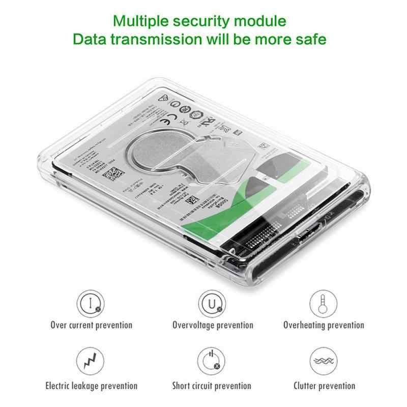 2.5 インチ透明ハードディスクボックスssdソリッドステート機械式ノートブックのsataシリアルポートusb 3.0 高速モバイルハードディスクディスク