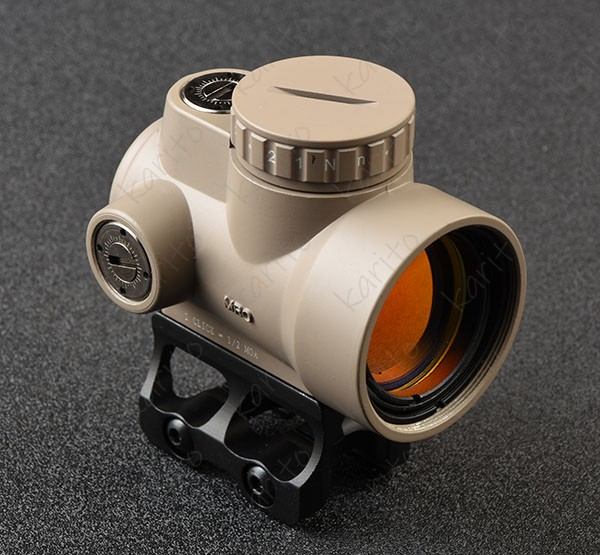 Tactical Trijicon Mro Style 1x Red Dot Sight Scope 2 MOA With High And Low Picatinny Rail Mount Base M6594