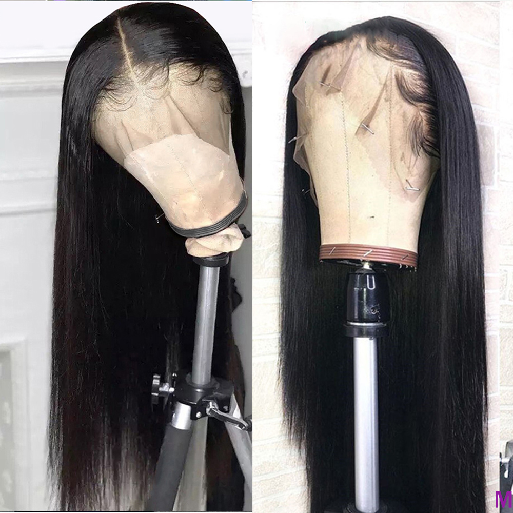 Brazilian Straight Lace Front Human Hair Wigs Pre Plucked HD Transparent 150% 13x4 Lace  Wigs For Black Women Deep Part Lace Wig