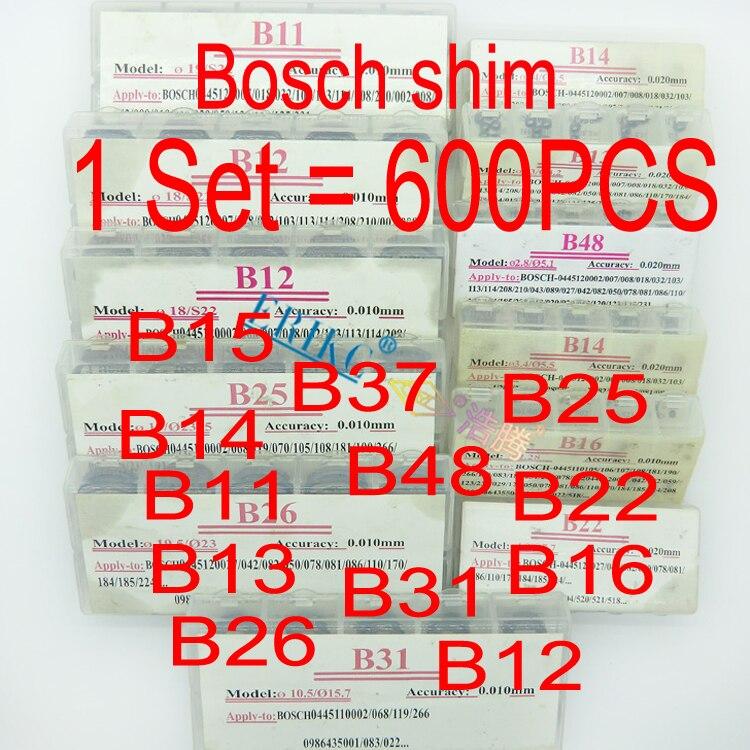 ERIKC Common Rail Injector ปรับ Shims B11 B12 B13 B14 B16 B22 B25 B26 B31 B48 ดีเซลปะเก็นชุดเครื่องซักผ้าสำหรับ Bosch 600pcs