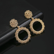JIOFREE New Popular Vintage Clip on Earrings for Women Big Round Statement Wedding Party Jewelry