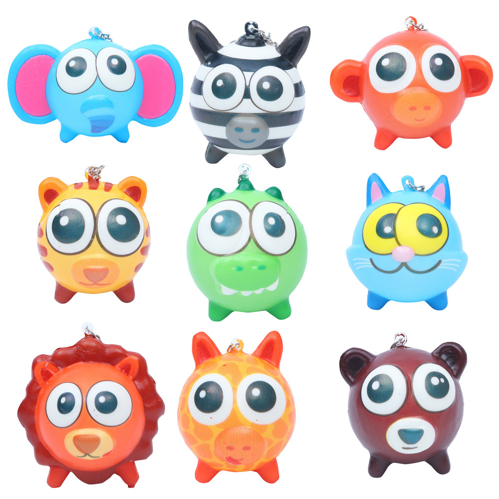 Squeeze 1 Slow Rebound Keychain Toy Cute Animal Scented Decompression Toy 50g PP Box Packaging Toys For Children L108