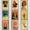 Винтажный Фильм леди птица ретро постер крафт-бумага Высокое качество домашняя комната бар Искусство Печать настенные наклейки, живопись