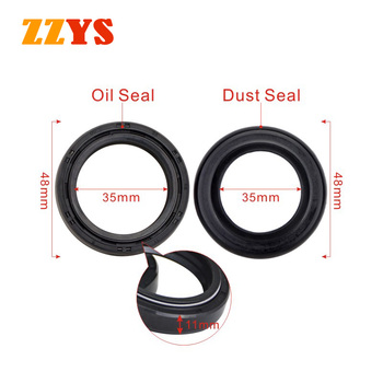 35x48x11 Motorcycle Front Fork Dust and Oil Seal For Suzuki TM400 GN400 GS450L GT500 GT550 GS550 GS550E GS550L GS550M GS550T image