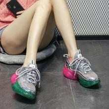 CINESSD Mesh Platform Sneakers Woman Vulcanize Shoes