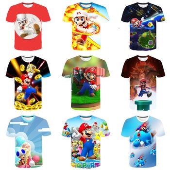 Klasyczna kreskówka Mario Bros 3D dziecięca koszulka mario ubrania dziecięca koszulka chłopięca i dziewczęca topy koszule chłopięca odzież dziecięca tanie i dobre opinie Lulu s wish COTTON Poliester CN (pochodzenie) Nowość Cartoon Krótki Tees Pasuje prawda na wymiar weź swój normalny rozmiar
