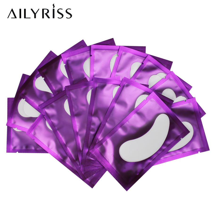 20/50/100pairs Purple Paper Patches Grafted Eye Stickers Eyelash Under Eye Pads Eye Paper Patches Tips Sticker AILYRISS