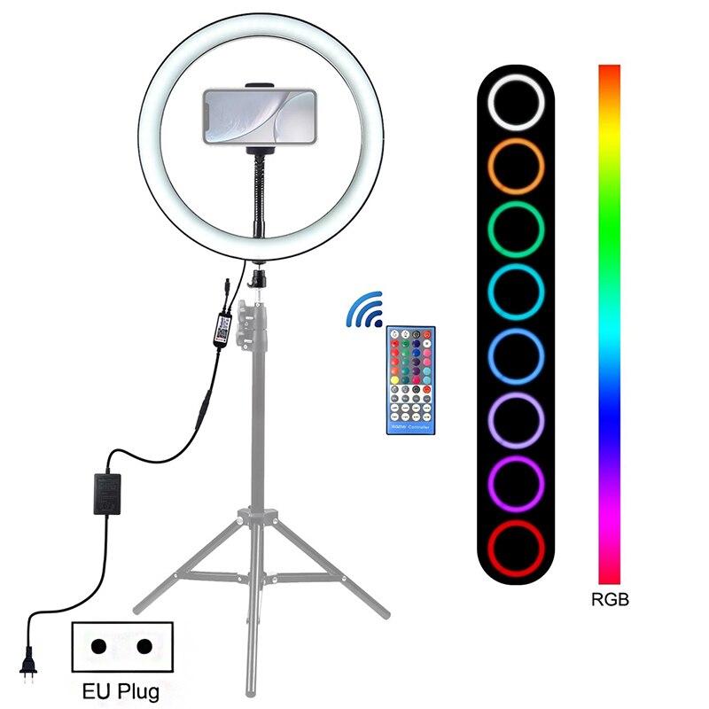 12-дюймовое освещение для фотосъемки 6000-6500k с регулируемой яркостью светодиодное кольцо для селфи RGB видео кольцо свет Vlog Tik Tok Youtube прямая тра...