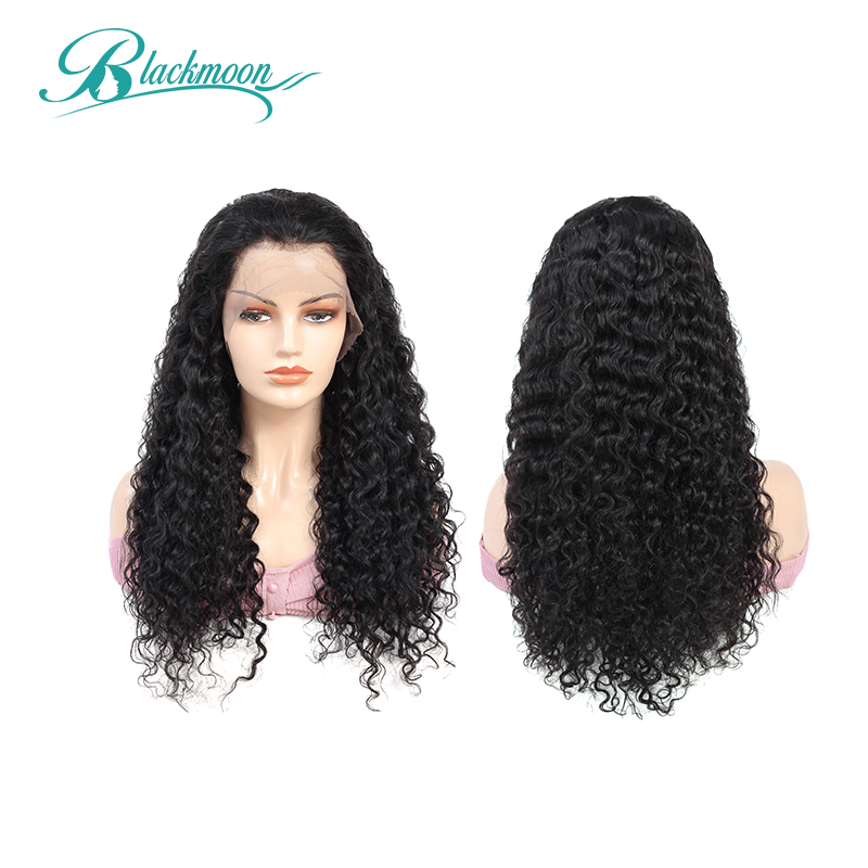Deep Wave Wig Glueless Lace Front Human Hair Wigs Malaysian Remy Wig Natural Hair 13x4 Frontal Wig 8-24 Inch Blackmoon Hair