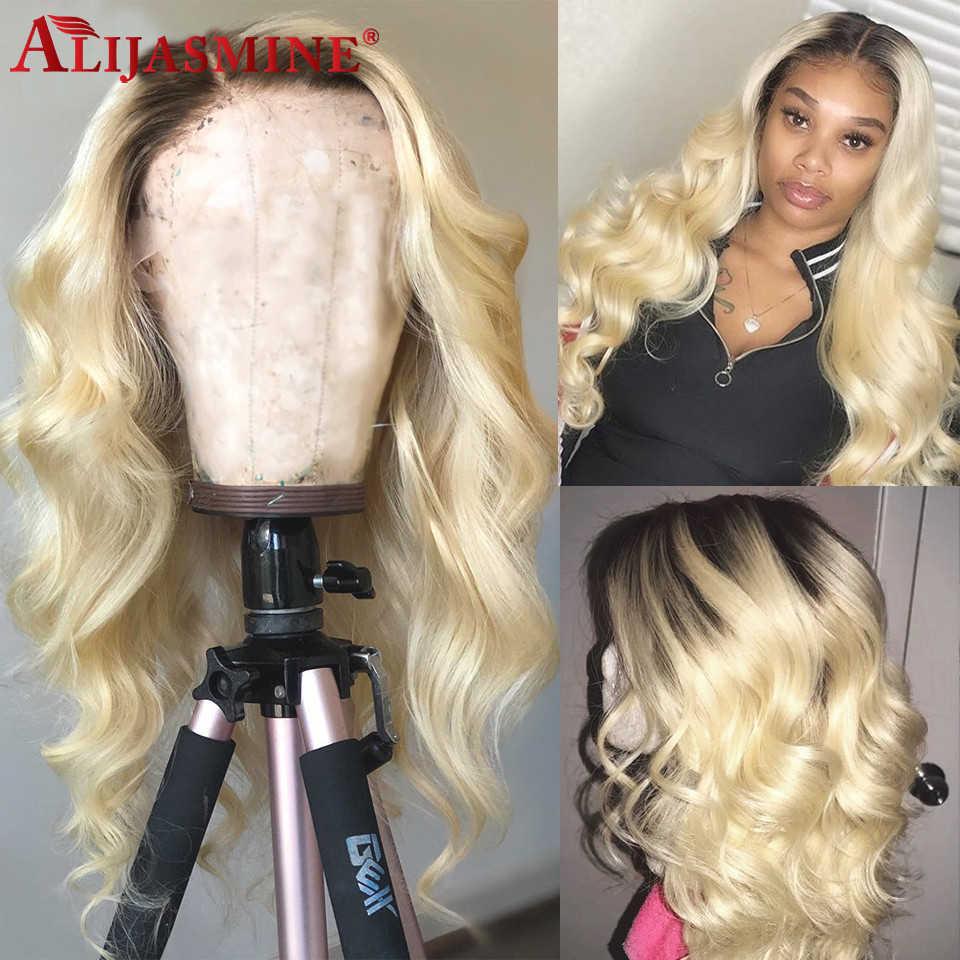 Body Wave Ombre 1B 613 Blonde Kant Voor Menselijk Haar Pruiken Pre Geplukt Braziliaanse Remy Menselijk Haar Pruiken Voor Zwarte vrouwen 130% Dichtheid