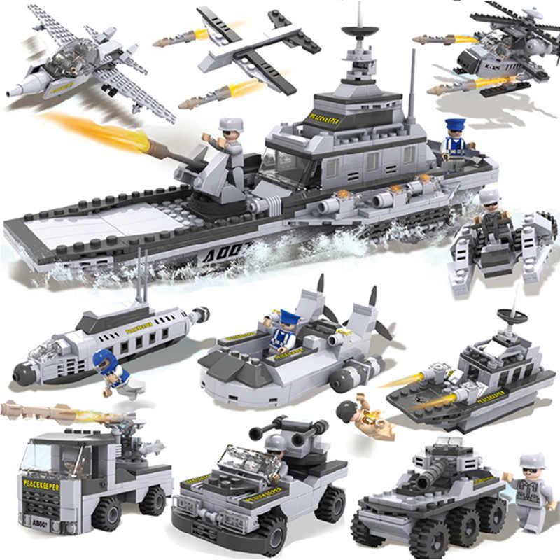 יותר דגמים ב 1 DIY דגם בניין ערכת קרב רובוט משטרת תחנת הרכבת לבני ילדי חינוך צעצועי מתנות Legoinglys