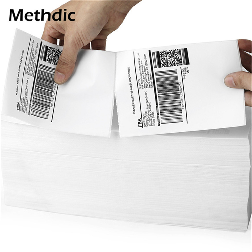 Methdic Blank Adhesive 2000sheet/set Folding 4x6 Thermal Shipping Label  For Shipping And Packing