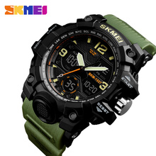 SKMEI Men Outdoor Sports Watch 2 Time display Chronograph 50M Waterproof Watches Fashion Casual Wristwatch Relogio Masculino skmei brand six pin stopwatch chronograph sports watches men waterproof silicone quartz watch students fashion casual wristwatch