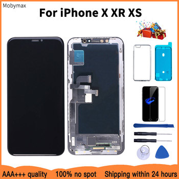 цена AAAA 100% New OLED Lcd For iPhone X XR Display Wholesale Price From Factory Display For iPhone XS Screen 100% Test Good 3D Touch онлайн в 2017 году