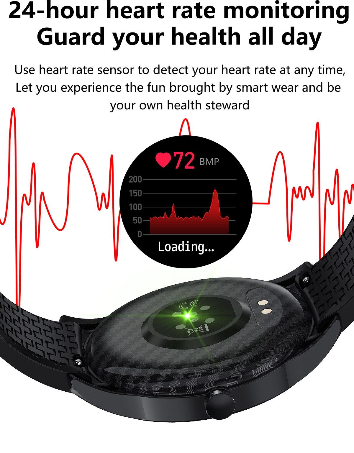 H49358404678f4d75b6cd6a90fac13f9bC LEMFO F15 Full Touch Screen Smart Watch Men 5D Case
