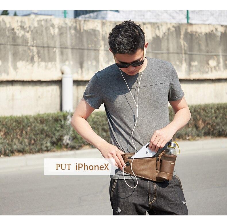 dinheiro copo de água bolso design alça de ombro único saco masculino