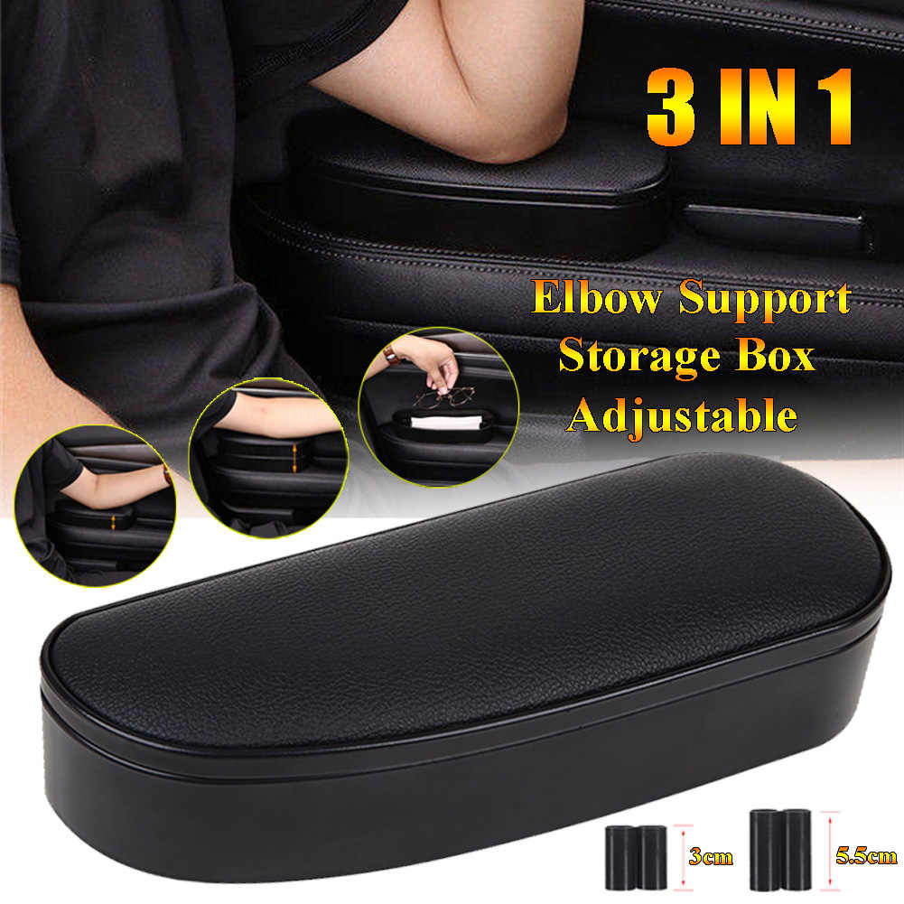 3 in 1 Anti Slip Mat Storage Box Adjustable Universal Car Left Hand Armrest Storage Elbow Support Car For Travel Rest Support