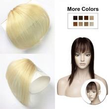 Halo, женская заколка, воздушная челка, 613 блонд, человеческие волосы, плоская бахрома, челка, невидимые бразильские волосы, не Реми, сменные челки