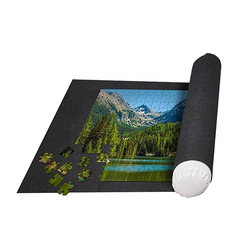1 pc quebra-cabeças almofada rolo de feltro tapete playmat puzzles cobertor para até quebra-cabeça acessórios novo saco de armazenamento de viagem portátil
