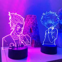 3d lampka nocna dla dzieci Anime Hunter X Hunter dziecko dekoracja sypialni Nightlight Manga prezent Hunter X Hunter lampka nocna Dropshipping tanie tanio NoEnName_Null Night Light cartoon CN (pochodzenie) ROHS Z tworzywa sztucznego Żarówki led Touch 110 v 220 v Suche baterii