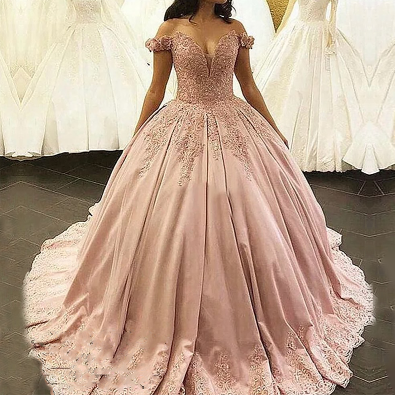 New Wedding Dresses 2020 A-line Sweetheart Bridal Gown Lace Appliques Ball Gown Sleeveless Vestidos De Noivas Floor Length