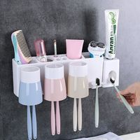 Держатель для зубной пасты для ванной комнаты милый держатель для зубной щетки Зубная щетка с героями мультфильмов подставка для зубных ще...