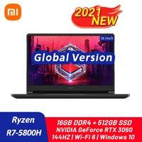 2021 New Xiaomi Redmi G Gaming Laptop Ryzen 7 5800H RTX3060 GPU 16GB DDR4+512GB SSD 16.1Inch Notebook 144HZ Wifi6 Game Computer 1