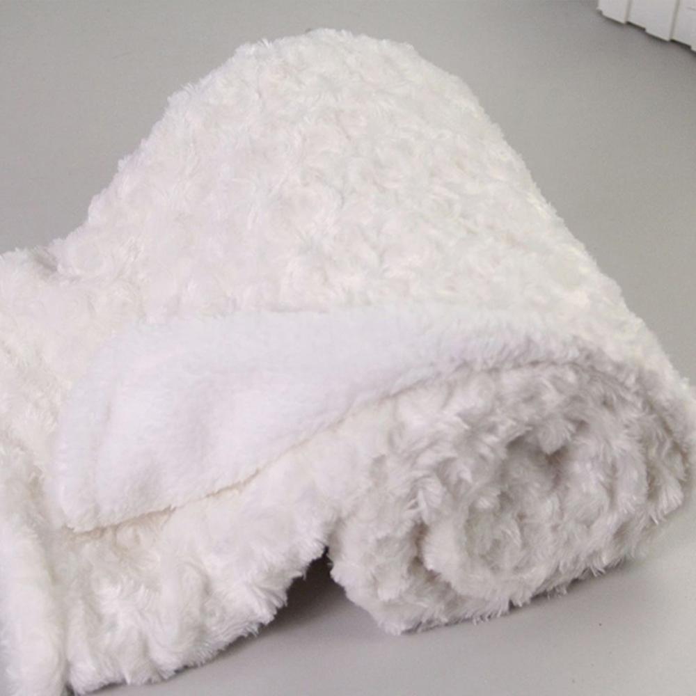 Rose Velvet Infant Baby Soft Blanket Toddler Stroller Sleeping Swaddle Warp