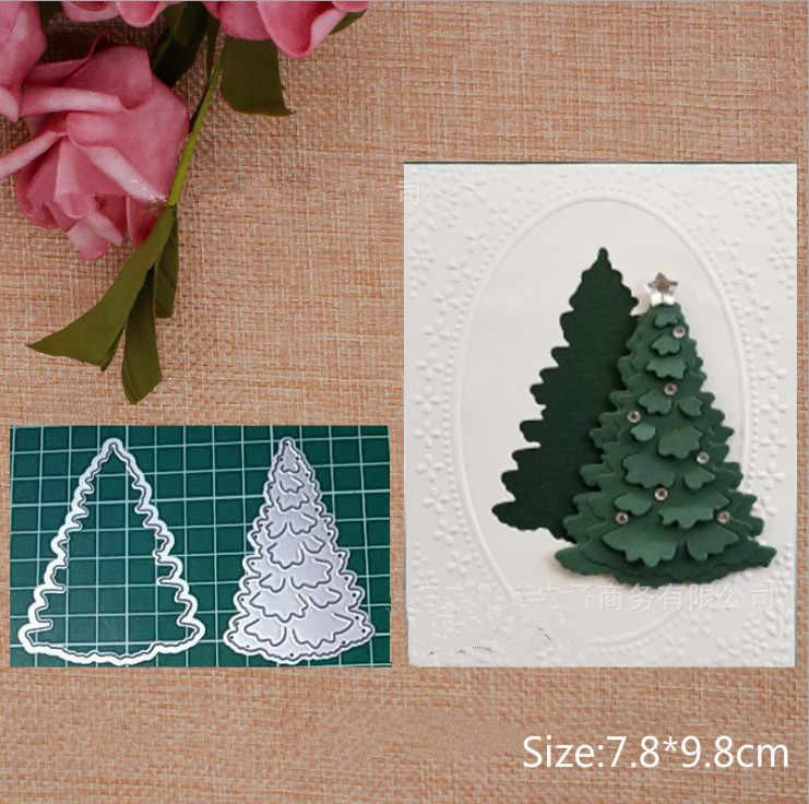 DIY Christmas Tree Edge Album Stencil Cutting Dies Craft Making Embossing Craft
