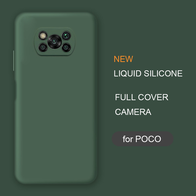 New Full Cover Liquid Silicone Phone Case For Xiaomi Poco X3 Nfc M2 F2 Pro X2 global Original Soft Protective Back Covers Cases 1