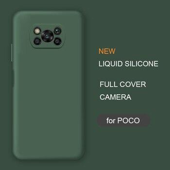 Новый жидкий силиконовый чехол для телефона Xiaomi Poco X3 Nfc M2 F2 Pro X2 global Original, мягкие Защитные чехлы для задней панели