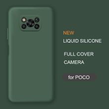 New Full Cover Liquid Silicone Phone Case For Xiaomi Poco X3 Nfc M2 F2 Pro X2 global