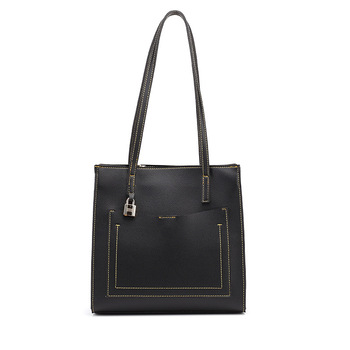 Women Shoulder Leather Bag Fashion Handbag Retro Embossing Leather Ladies Shoulder Bag Large Tote Purse Women Handbag Tote K32 фото