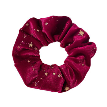 Stars Print ed Vintage Velvet Scrunchies Elastic Hair Bands Solid Headband Korea Headwear Fashion Hairband Hair Accessories Hot image
