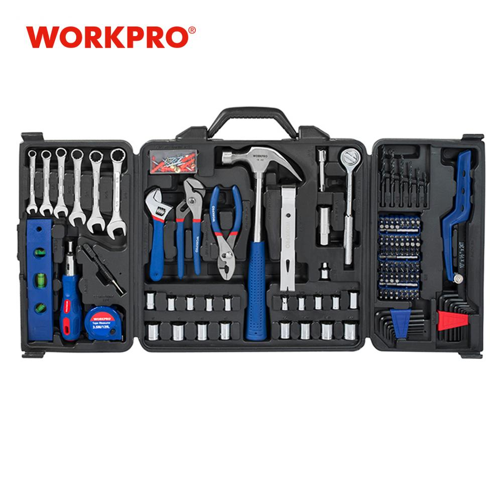 WORKPRO 201PC Tool Set Home Instruments Hand Tools Socket Set Ratchet Spanner Wrenches Pliers Screwdrivers