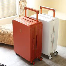 Retro Matte Hard-Side Suitcase Student Suitcase 24-Inch Trolley Luggage Aluminum Frame 20-Inch Boarding Men and Women
