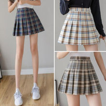 Plaid Short Skirt Mini Pleated Clothes White Skirts Womens Harajuku Fashion 2020 Summer The New High Waist Streetwear Vintage(China)