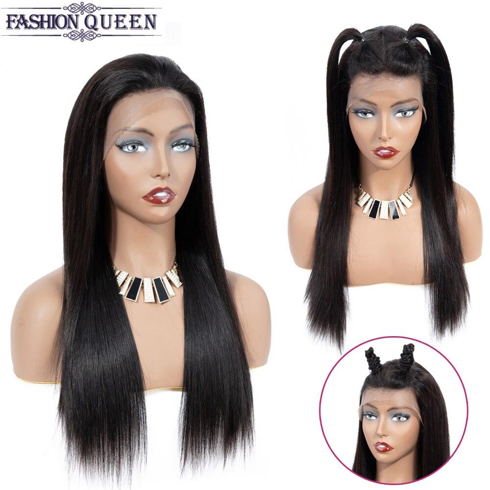 Brazilian Lace Frontal Human Hair Wigs Straight 13×4 Lace Frontal Wigs Pre-Plucked With Baby Hair Wigs Non Remy Fashion Queen